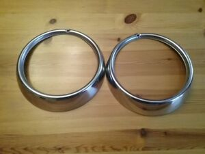 2 Vintage V w O e m Headlight Rings 311 941 175 A Excellent Cond