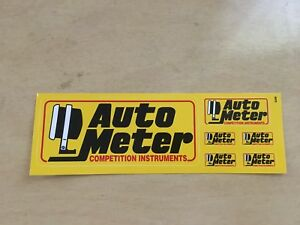 Auto Meter Sticker Sheet Decal Vintage Tool Box Off Road Racing