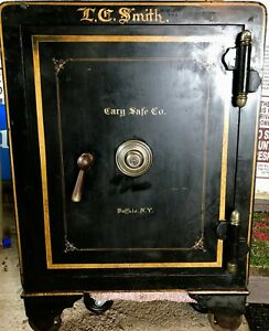 Antique Safe Cary Safe Co Buffalo Ny All Original With Keys And Combination