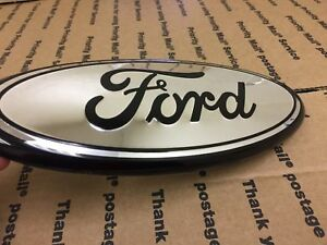 New Ford Truck Front Hood Grill Grille Emblem Logo Oval Symbol Sign 9 Chrome