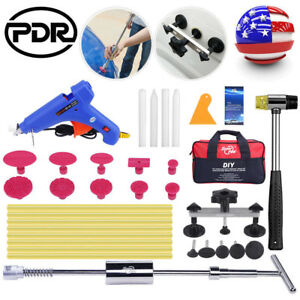 Pdr Tool Hail Removal Paintless Dent Repair Slide Hammer Pulling Bridge Glue Gun