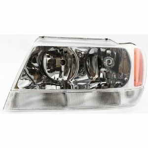 Head Light 1999 2004 Jeep Grand Cherokee Limited Overland Driver Side 55155553ai