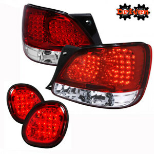 For 1998 2005 Lexus Gs300 Gs400 Gs430 Led Tail Lights Rear Red Brake Lights