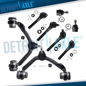 4x4 Front Upper Control Arm Lower Ball Joint Tierod Kit Ford F 150 Expedition