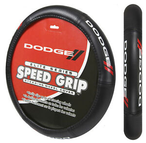Dodge Elite Racing Stripes Car Truck Synthetic Leather Steering Wheel Cover New