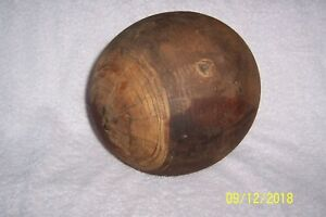 Super Rare Antique Solid Wood Millinery Round Hat Mold