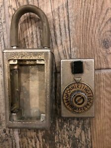Vintage Supra c Realtor Lock Box Padlock Combination Hide A Key For Door