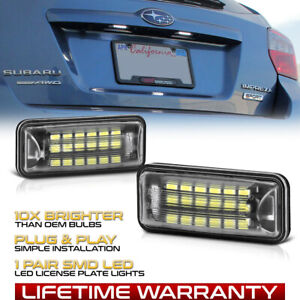 Super Bright Led License Plate Light Lamp For 2008 2019 Subaru Impreza Wrx Sti