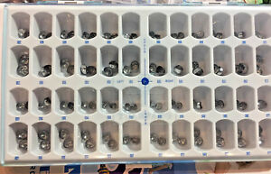 96pcs box Dental Stainless Steel Primary Molar Pediatric Kids Crown 48x2 1 Box