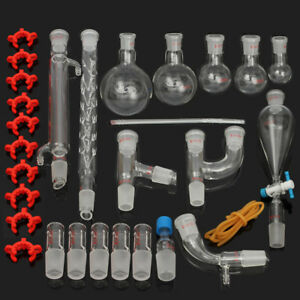 29pcs Chemical Glassware Kit Lab Glass Set With Ground Joints