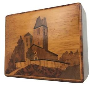 Old Dunhill Shop Vienna Horvat Austria Inlaid Wood Marquetry Tobacco Cigar Box