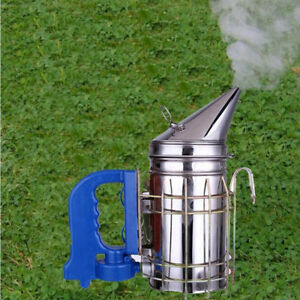 Electric Bee Stainless Steel Smoke Transmitter Beekeeping Kit Tool Smoker Hive T