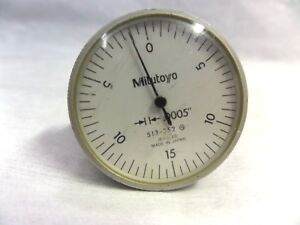 Mitutoyo 513 252 Dial Indicator Jeweled 0005 good Condition