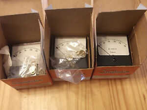 Simpson Panel Meter 0 300 Vac Model 1357 Cat 10240 Nib 2ea Lot Free Shipping
