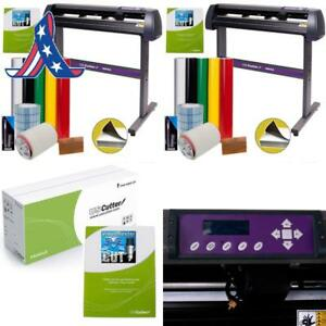 Uscutter Vinyl Cutter Mh 34in Bundle Sign Making Kit W design Cut Software