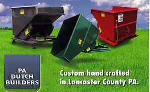 Self Dumping Dump Hoppers Dumpsters Container 4 Yd Yard 4000 Lbs For Forklifts