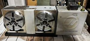 Haas Shrt 160 2h Twin Indexer Rotary Table Hrt 2 Two Head Table 4th Axis