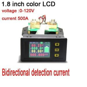 120v 500a Battery Monitor Dc Voltage Current Temperature Capacity Power Meter