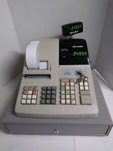 Used Sharp Er a320 Electronic Cash Register W Keys Money Tray