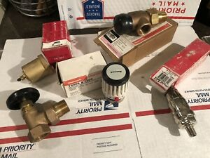 Lot Of 5 New Steam Radiator Angle Valve Brass Air Vent Free Shipping