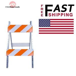 Wood And Metal Barricade 8 In X 24 In Safety Traffic Control Sign