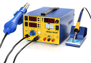 220v Yihua 853d 3 In 1 Soldering Rework Stations With Hot Air Gun Solder Iron