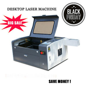 New Usb Port 50w Co2 Laser Engraving Cutting Machine 300mm 500mm With Rotary