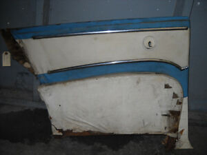 1956 Ford Victoria Two Door Hard Top Driver Rear Door Panel With Trim Ash Tray