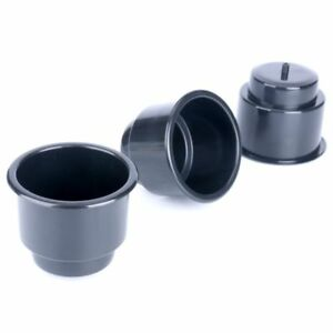 30 Pecs Amarine made Black Recessed Plastic Cup Drink Can Holder W Drain Us
