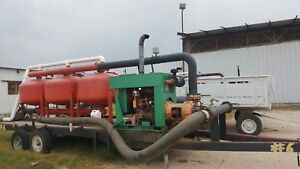 Yardney Drip Irrigation Sand Filter Bank Diesel John Deer Pump Trailer 6 1000g