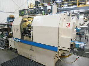 Miyano Bnc 34t Multi turret Cnc Precision Turning Center With Bar Feeder Vgc