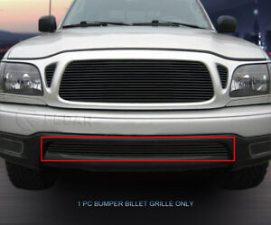 For 2001 2004 Toyota Tacoma Black Billet Grille Lower Bumper Grill Insert Fedar