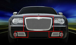 Fedar Fits 05 10 Chrysler 300c Formed Mesh Grille Combo Insert