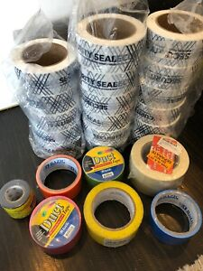 27 Qty Security Seal Tape 10 Free Rolls Duct Tape Electrical Tape Huge Lot