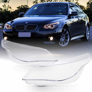 ultra Clear 03 10 Bmw E60 E61 5 series Replacement Headlight Lamp Cover Lens