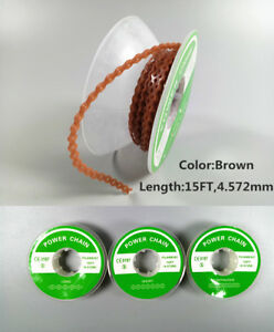 Dental Orthodontic Power Chain Super Elastic Rubber Bands Tie 15ft 4 57m Brown