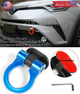 Blue Plastic Tape On Adjustable Racing Decoration Tow Hook Ring For Honda Acura