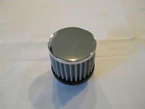 Chrome Washable Push In Valve Cover Breather 1 1 4 Hole W Built In Grommet