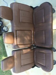 2011 2016 Ford F250 F350 F450 Super Duty Platinum Rear Seats 60 40 Split Brown