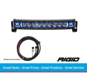 Rigid Industries Radiance Curved 20 Inch Led Light Bar With Blue Back Light