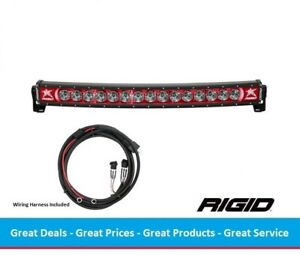 Rigid Industries Radiance Curved 30 Inch Led Light Bar With Red Back Light