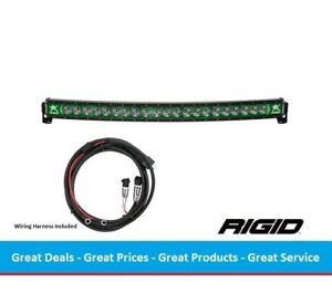 Rigid Industries Radiance Curved 40 Inch Led Light Bar With Green Back Light