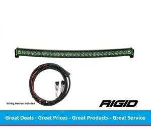 Rigid Industries Radiance Curved 50 Inch Led Light Bar With Green Back Light