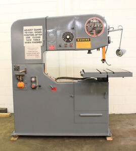 36 Thrt 12 H Doall 3612 2h Vertical Band Saw Vari speed hyd tbl 5hp blade We