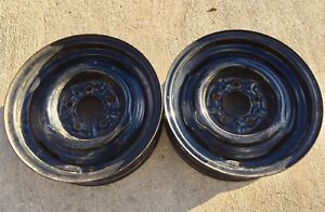 Mopar Ford Factory Steel Wheels Rims Matched Pair 14x5 Pair J15082