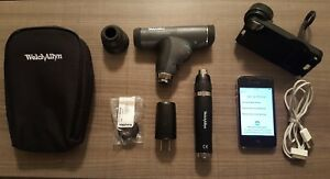 Welch Allyn Panoptic Ophthalmoscope W iexaminer Attachment And Iphone 4