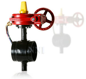 8 Butterfly Valve Grooved Ends With Tamper Switch Ul fm Fire Protection Valve