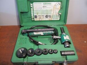Greenlee Knockout 7306 Ram And 767 Hand Pump Hydraulic Driver Kit Slug Buster