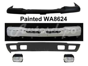 Front Bumper Wa8624 Face Bar Cap Valance Fog Light For Silverado 1500 2003 2004
