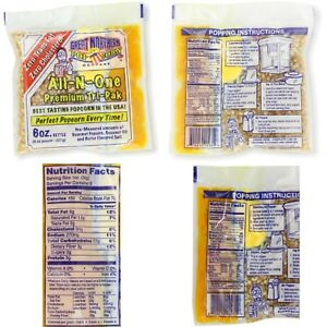 Great Northern Popcorn 24 Ct 6 Oz oil Butter Salt Pouches All In One Popcorn